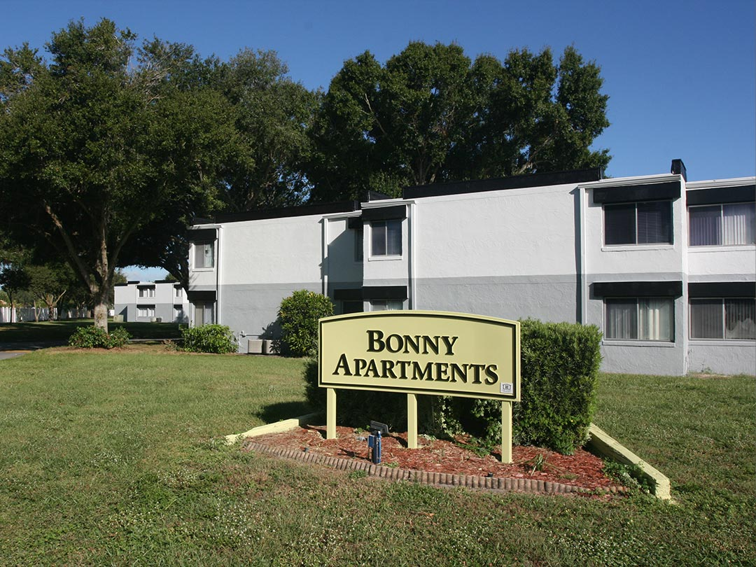 Photo Of The Welcoming Bonny Apartments's Entrance Sign.